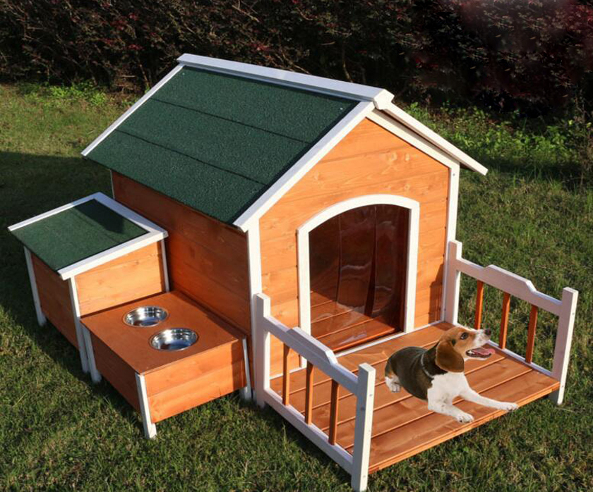 Outdoor Wooden Garden Dog Kennel Large Dog House Abpet Care Food